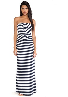 Ella Moss Isla Striped Strapless Maxi Dress