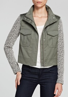 Ella Moss Jacket - Minka Jacquard Sleeve