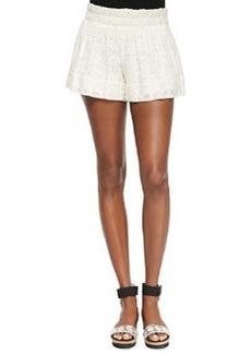 Ella Moss Jazmine Lacey Wide-Leg Shorts