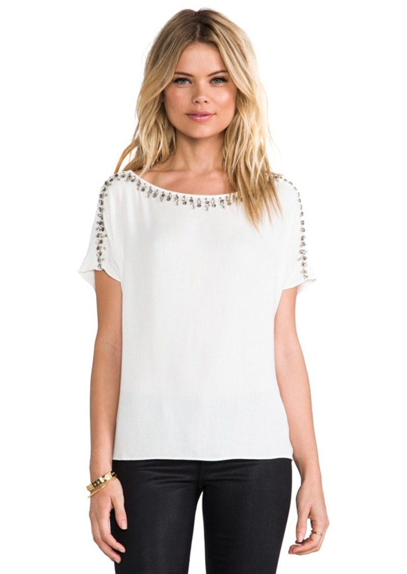 Ella Moss Jess Embellished Top in Ivory