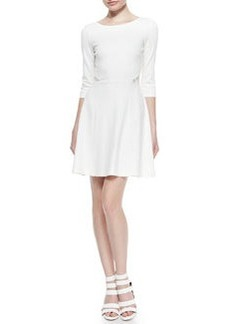 Ella Moss Joy Fit-and-Flare Dress with Lace Back