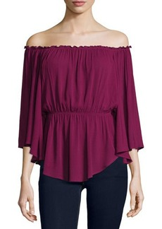 Ella Moss Katella 3/4-Sleeve Flowy Top