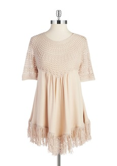 ELLA MOSS Knit Fringe Top
