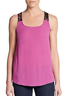 Ella Moss Lace Back Tank Top