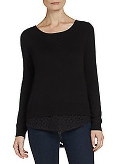 Ella Moss Lace Hem Sweater