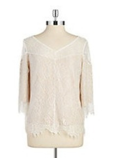 ELLA MOSS Lace Overlay Top