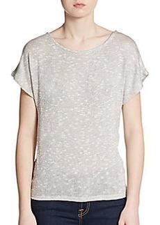 Ella Moss Lace Panel Sparkle Knit Top