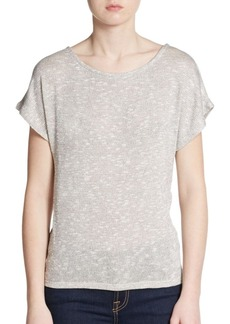 Ella Moss Lace Panel Sparkle Knit Top