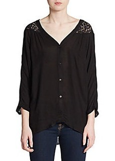 Ella Moss Lace Yoke Dolman Top