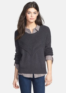 Ella Moss 'Lena' Mixed Knit Pullover (Nordstrom Exclusive)