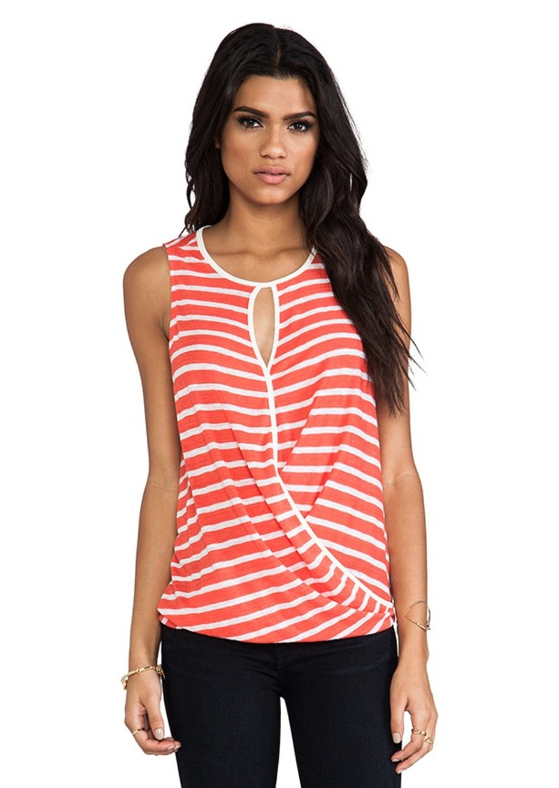 Ella Moss Lillie Drape Tank in Orange