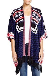 Ella Moss Lima Tribal Pattern Fringe Cardigan