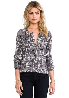 Ella Moss Lora Blouse in Gray