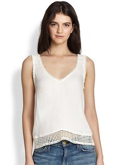 Ella Moss Luann Crochet-Trim Top