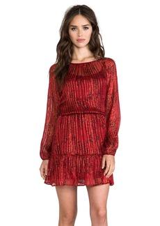 Ella Moss Lynx Long Sleeve Dress in Red