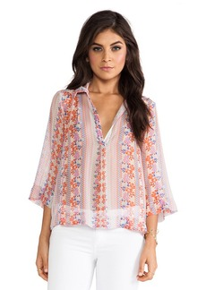 Ella Moss Meadow Blouse in Peach