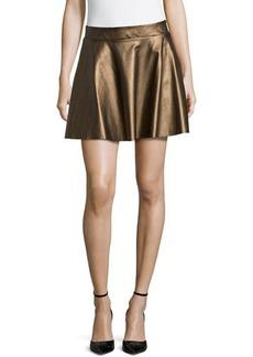 Ella Moss Metallic Faux-Leather Circle Skirt