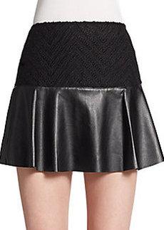 Ella Moss Mixed Media Flounce Skirt