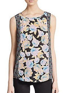 Ella Moss Mixed Print Silk Tank Top