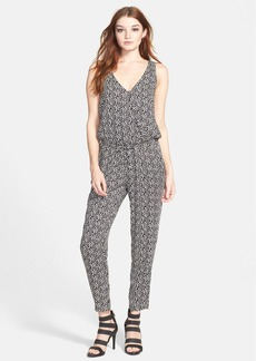 Ella Moss 'Monet' Print V-Neck Jumpsuit