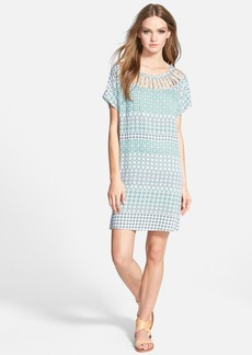 Ella Moss 'Mozaic' Short Sleeve Shift Dress