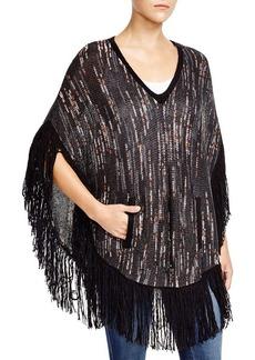 Ella Moss Negev Knitted Fringe Poncho