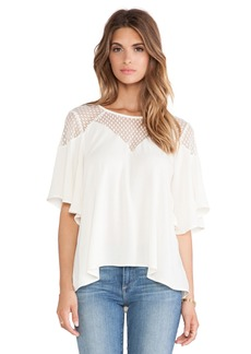 Ella Moss Nikita Lace Yoke Top