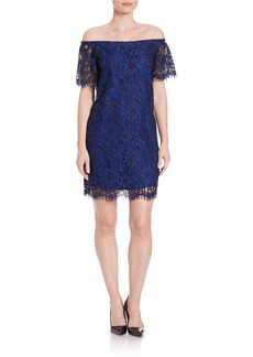 ELLA MOSS Off-the-Shoulder Lace Dress