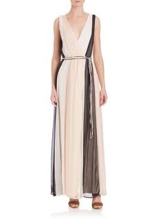Ella Moss Ophelia Colorblock Silk Maxi Dress