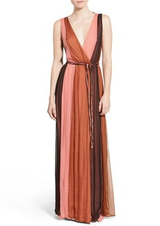 Ella Moss 'Ophelia' Colorblock Silk Maxi Dress