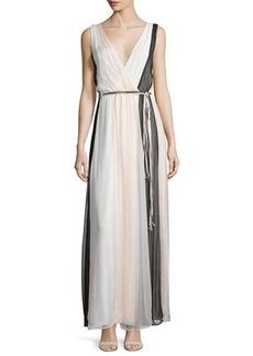 Ella Moss Ophelia Sleeveless Colorblock Silk Maxi Dress