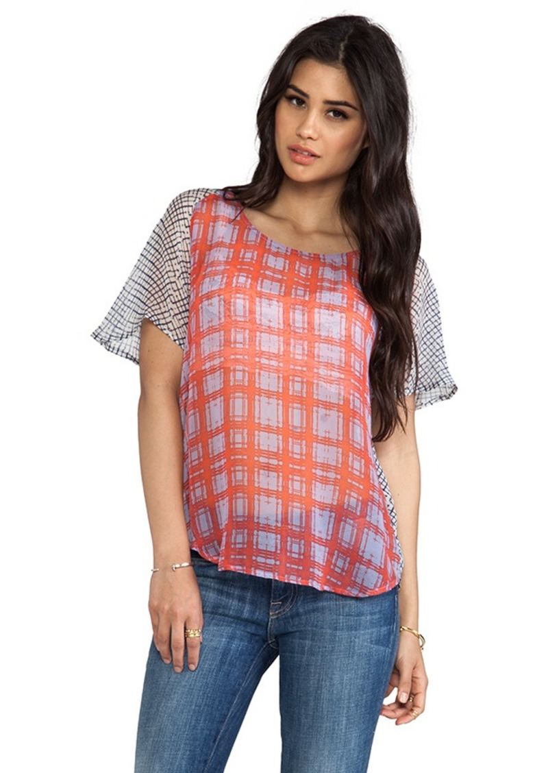 Ella Moss Paige Plaid Tee in Blue
