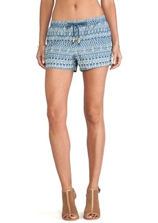 Ella Moss Paz Chambray Shorts in Blue