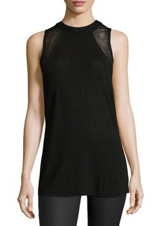 Ella Moss Perforated Sleeveless Tee
