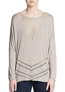 Ella Moss Pointelle Dolman Sweater