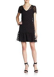 Ella Moss Polka Dot Silk-Gauze Shift Dress
