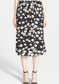 Ella Moss Poppy Print Midi Skirt