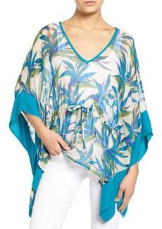 Ella Moss Print Silk Tunic Top