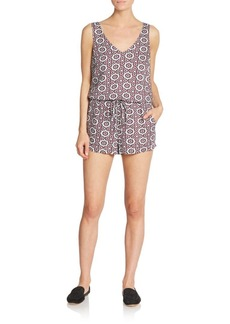 Ella Moss Printed Jersey Knit Short Jumpsuit
