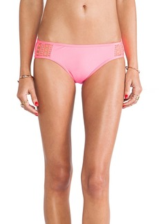 Ella Moss Retro Bikini Bottom with Crochet in Pink