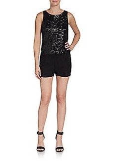 Ella Moss Sequined-Front Short Jumpsuit
