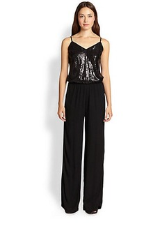 Ella Moss Sequined-Top Wide-Leg Jumpsuit