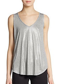 Ella Moss Shimmery Striped Top