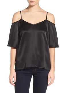 Ella Moss Silk Blend Cold Shoulder Top