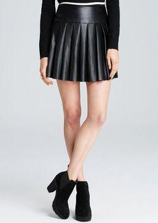 Ella Moss Skirt - Raquel Pleated Faux Leather