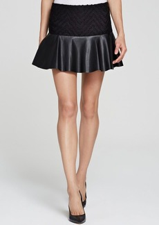 Ella Moss Skirt - Trinity Tweed and Faux Leather