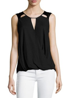 Ella Moss Sleeveless Cutout-Detail Top