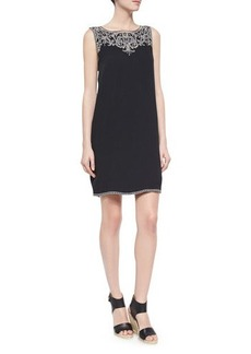 Ella Moss Sleeveless Embroidered Shift Dress