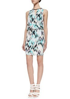 Ella Moss Sleeveless Printed Dress W/ Keyholes