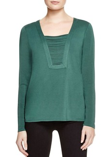Ella Moss Spliced Neck Top